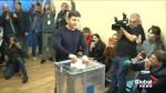 Comedian in front as polls open in Ukraine