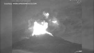 Mexican volcano spews lava and ash as country rebuilds after quake
