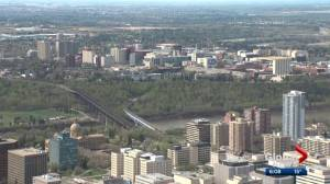 A bird's-eye view from Edmonton's tallest building