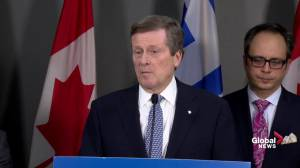 In order for Ontario to succeed, Toronto has to succeed: Mayor Tory
