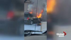 Barnwell man tows flaming vehicle away from home (01:54)