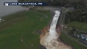 Dam breaks after Hurricane Maria hit Puerto Rico