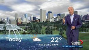 Edmonton noon weather forecast: Friday, August 3, 2018