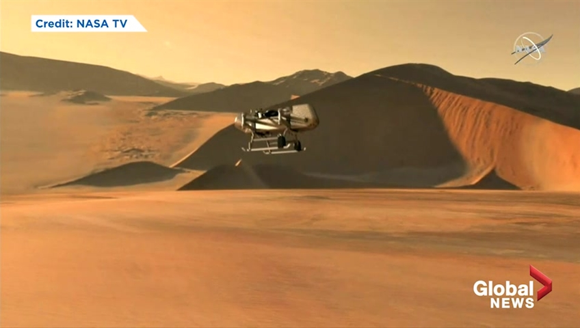 NASA Dragonfly mission will explore Saturn's largest moon Titan