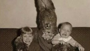 'Creepy' Easter photos show how scary a giant bunny can be