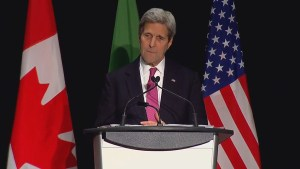 John Kerry says the U.S. is looking forward to Canada's contribution to fighting the Islamic State