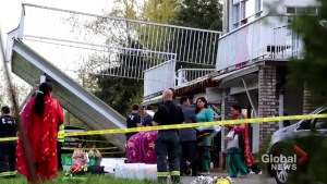 Deck collapse at Langley wedding sends dozens to hospital