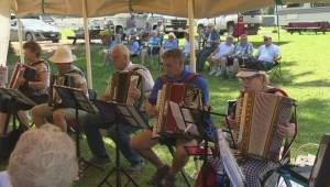 The 6th annual Accordion Get-Together entertains audiences at the Riverside R.V. Park in Enderby