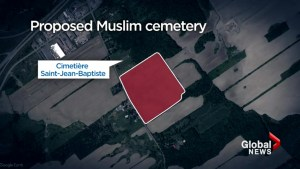 Making way for a new cemetery in Vaudreuil-Dorion