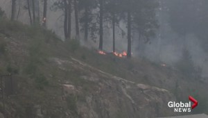 Wildfire video between Peachland and Summerland