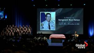 Officer killed in California bar shooting given hero's salute