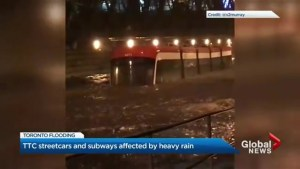 TTC services affected by Tuesday night's downpour