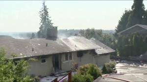 Fire destroys home in Coquitlam