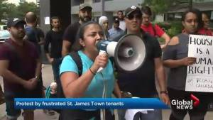 Victims of St. James Town apartment hold heated protest