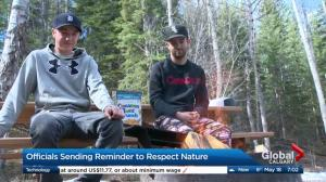 Officials remind provincial park users to show respect for nature