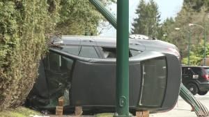 Possible road rage crash in Vancouver