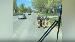 Firefighters in Missouri push veteran in wheelchair after it breaks down