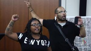 Protesters take over DA's press conference on officer-involved shooting in Minneapolis