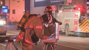 Suspicious fire in Ahuntsic