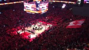 NBA Finals: 'O Canada' fills arena before Game 5 tip-off between Raptors, Warriors