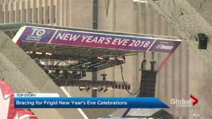 Winter blast cools off New Year's Eve festivities across southern Ontario