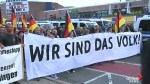 Far-right demonstrators continue march in German city of Chemnitz after alleged stabbing of man by immigrants