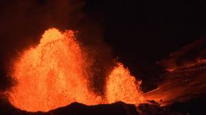 Hawaii's Kilauea volcano continues to spew lava more than a month after eruption