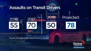Transit safety in question after Edmonton bus driver stabbed