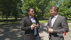 Ontario Regional Chief walks Queens Park with Alan Carter