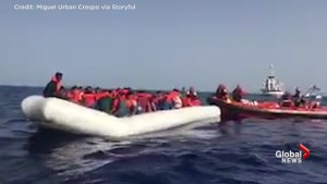60 migrants rescued from dinghy afloat in Mediterranean sea