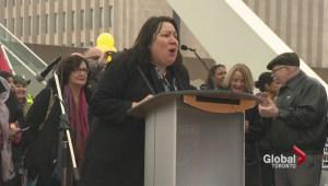 Rally held in Toronto protesting of Harper government's anti-terror legislation