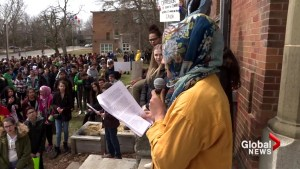 Macdonald High School students protest Bill 21