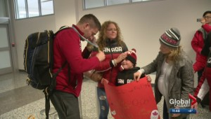Gold medallist John Morris returns home from Olympics to great support from family, friends