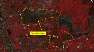 Amnesty International says satellite imagery shows burned Rohingya villages in Myanmar