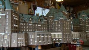 Handmade Banff Springs Hotel model finds new home at Calgary International Airport
