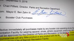 Mayor in Louisiana bans his city's recreation facilities from buying or using Nike products