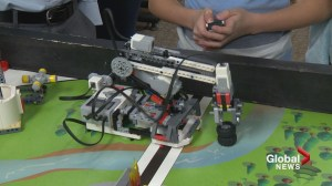Calgary kids hope to help the environment with robotic 'Aqua Arm'