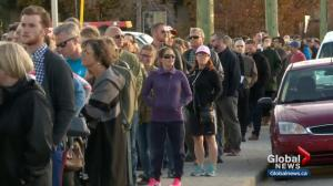 Lineups form as Calgarians wait to cast their ballot in the 2017 election