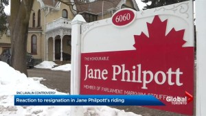 Markham-Stouffville constituents 'surprised' at Jane Philpott resignation