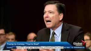 Donald Trump sacks FBI director James Comey