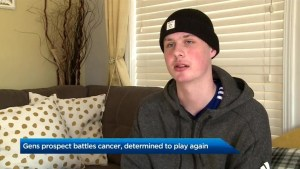 Oshawa Generals prospect battling cancer, determined to play again