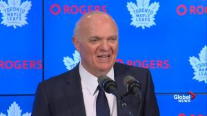Maple Leafs GM remains non-committal on future with team
