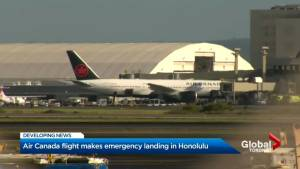 Air Canada flight makes emergency landing in Hawaii