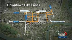 How is Edmonton's downtown bike network doing 1-month in? (03:45)