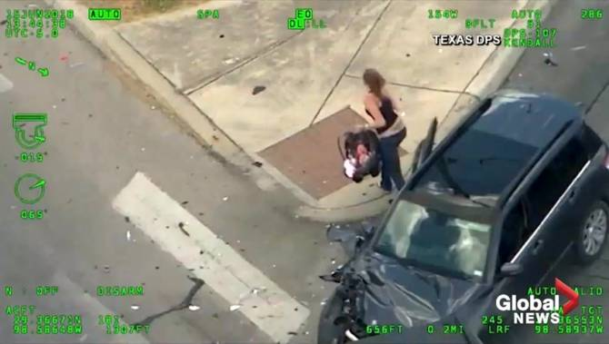 Mother leads police on chase, crashes car, attempts to