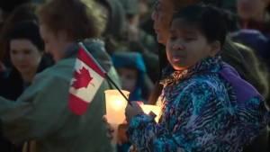 Vigil held at Lethbridge city hall to honour Quebec city shooting victims (01:51)