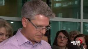 Victims' families issue statement after Matthew de Grood review hearing (05:44)