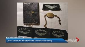 Mission to unite military items with veteran's family