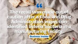 Certain kinds of hummus being recalled in the U.S.