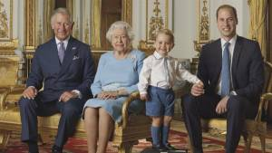 Prince George joins 4 generations of Royal Family on new stamp to celebrate Queen's 90th birthday